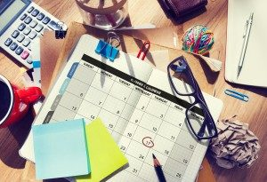 Photo: Organization Tools - Calendar, Notepad for Special Events